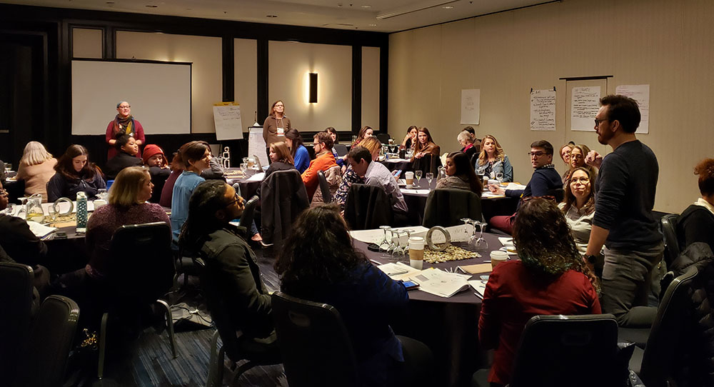 Attendees at the Guild's 2018 preconference on Music Engagement
