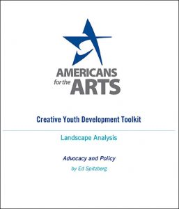 Americans for the Arts landscape analysis paper cover art