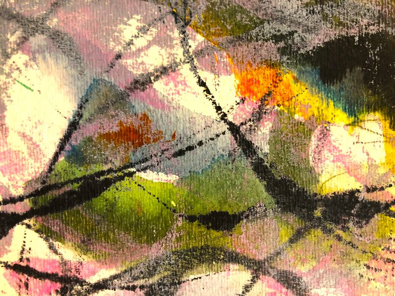 detail of abstract work